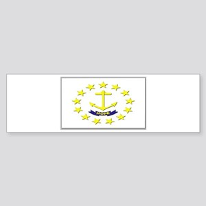 Flag of Rhode Island Sticker (Bumper)