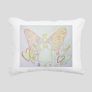 Angel Of Hearts Rectangular Canvas Pillow