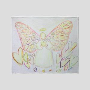 Angel of Hearts Throw Blanket