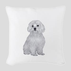 Maltese (#2) Woven Throw Pillow