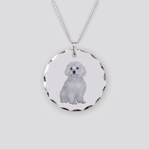 Maltese (#2) Necklace Circle Charm