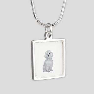 Maltese (#2) Silver Square Necklace