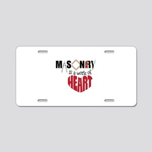 A Work Of Heart Aluminum License Plate