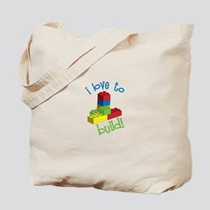 I Love To Build Tote Bag