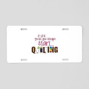 Start Quilting Aluminum License Plate