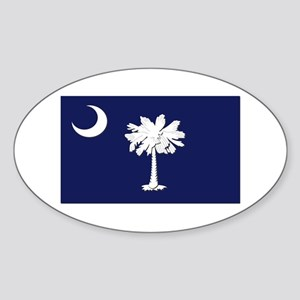 Flag of South Carolina Sticker (Oval)