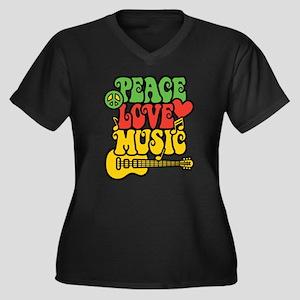 Peace-Love-Music Plus Size T-Shirt