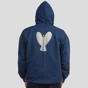 Rainbow Hearts Angel Zip Hoodie (dark)