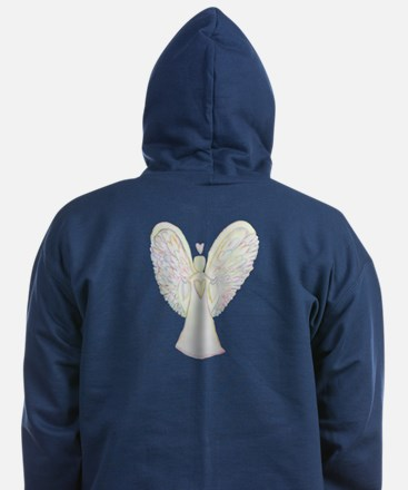 Rainbow Hearts Angel Zip Hoodie (dark)