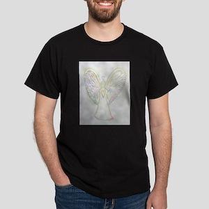 Rainbow Hearts Angel Dark T-Shirt