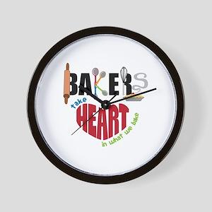 Bakers Take Heart Wall Clock