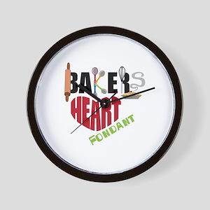 Bakers Heart Fondant Wall Clock