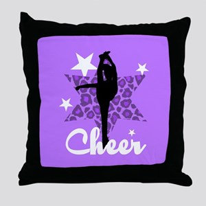 Purple Cheerleader Throw Pillow