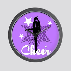 Purple Cheerleader Wall Clock
