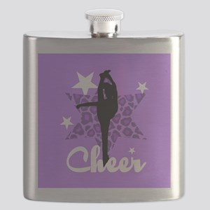 Purple Cheerleader Flask