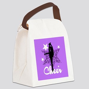 Purple Cheerleader Canvas Lunch Bag