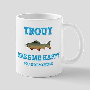 Trout Make Me Happy Mugs