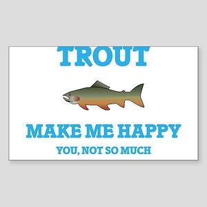 Trout Make Me Happy Sticker