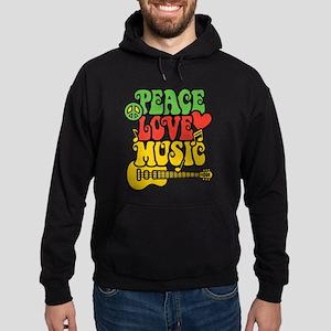 Peace-Love-Music Hoodie