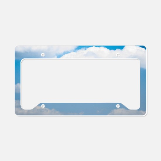 Blue sky of love License Plate Holder
