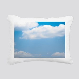 Blue sky of love Rectangular Canvas Pillow