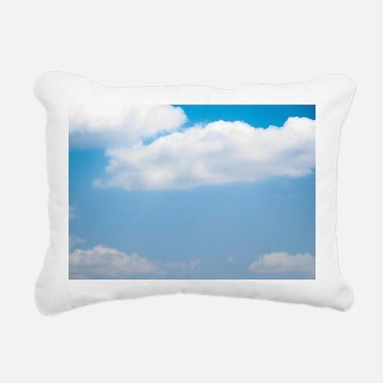 Blue sky of love Rectangular Canvas Pillow