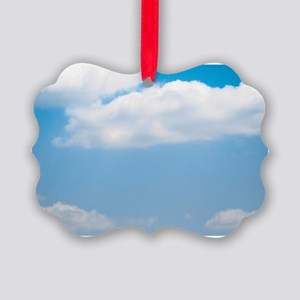 Blue sky of love Picture Ornament