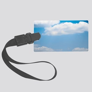 Blue sky of love Large Luggage Tag