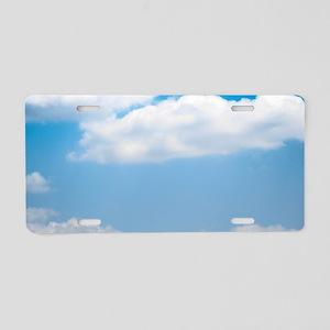 Blue sky of love Aluminum License Plate