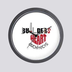 Builders Heart Architects Wall Clock