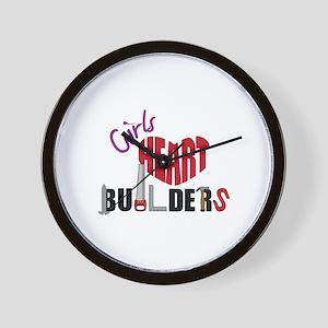 Girls Heart Builders Wall Clock
