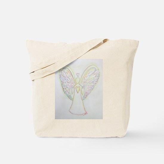 Rainbow Hearts Angel Tote Bag