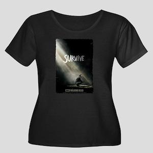 Survive Walking Dead Women's Plus Size T-Shirt