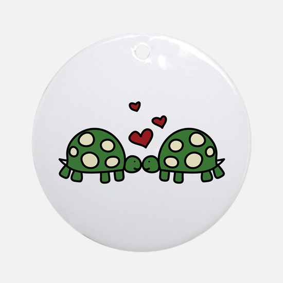 Love Turtles Ornament (Round)