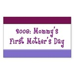 First Mother's Day Rectangle Sticker