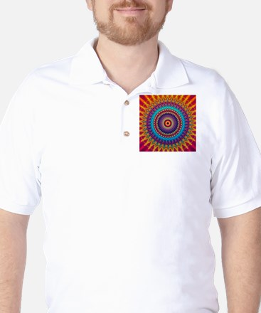 Fire and Ice mandala Golf Shirt