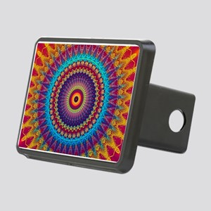 Fire and Ice mandala Rectangular Hitch Cover
