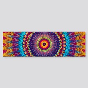 Fire and Ice mandala Bumper Sticker