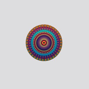 Fire and Ice mandala Mini Button