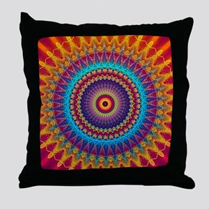 Fire and Ice mandala Throw Pillow