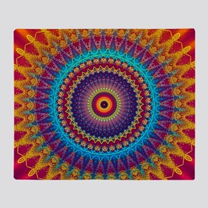 Fire and Ice mandala Throw Blanket
