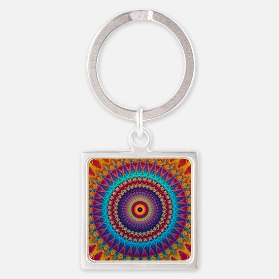 Fire and Ice mandala Keychains