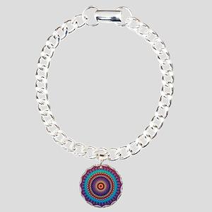 Fire and Ice mandala Charm Bracelet, One Charm