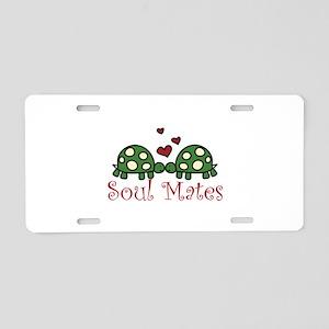 Soul Mates Aluminum License Plate