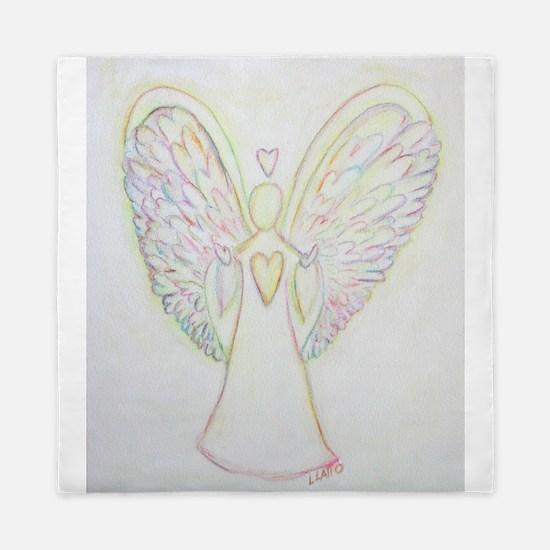 Rainbow Hearts Angel Queen Duvet
