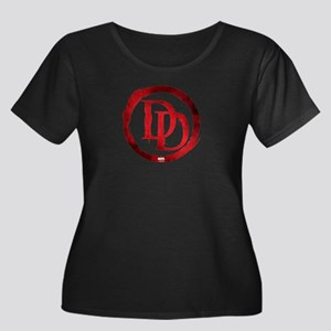 Daredevi Women's Plus Size Scoop Neck Dark T-Shirt