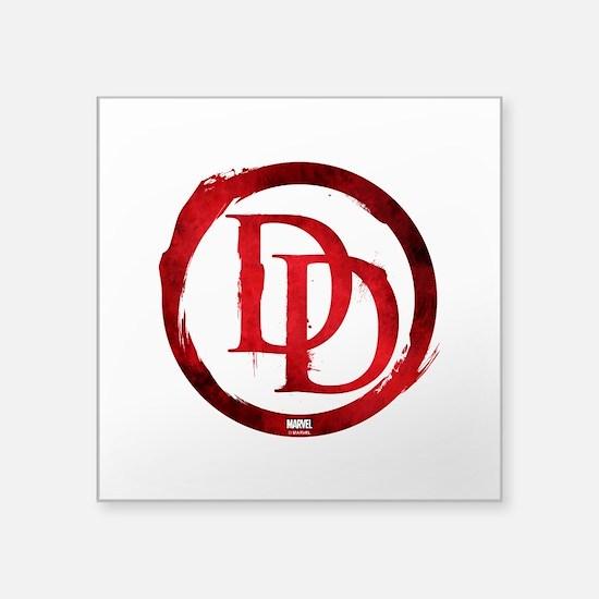 """Daredevil Symbol Square Sticker 3"""" x 3"""""""
