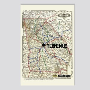 Walking Dead Terminus Map Postcards (Package of 8)