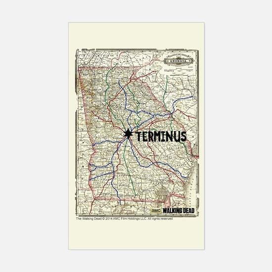 Walking Dead Terminus Map Decal