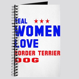 Real Women Love Border Terrier Dog Journal